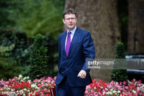 Greg Clark UK business secretary arrives for a weekly meeting of cabinet ministers at number 10 Downing Street in London UK on Tuesday Sept 5 2017 UK...