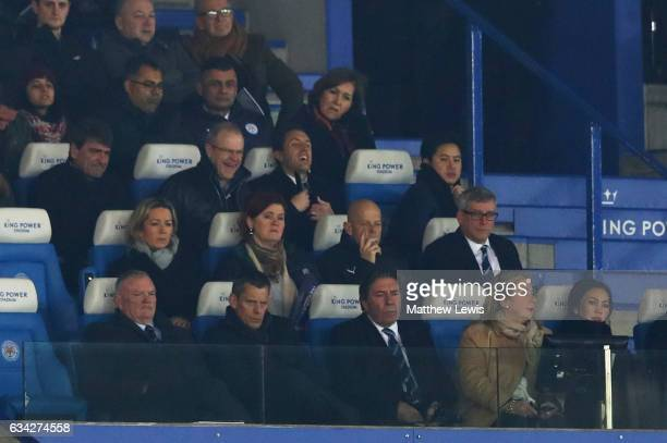 Greg Clarke Chairman of the FA sits with Martin Glenn CEO of the FA during the Emirates FA Cup Fourth Round replay match between Leicester City and...