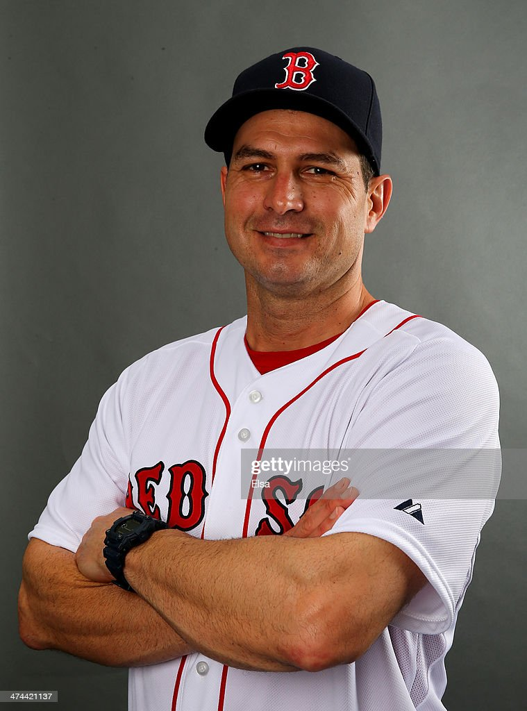 Greg Colbrunn #28 of the Boston Red Sox poses for a portrait during Boston Red Sox Photo Day on February 23, 2014 at JetBlue Park in Fort Myers, Florida.