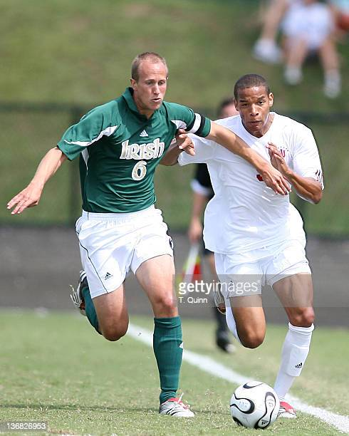 Greg Dalby holds off Kevin Noschang In the second game of the second day of the 2006 Adidas/IU Credit Union Classic at the the University of Indiana...