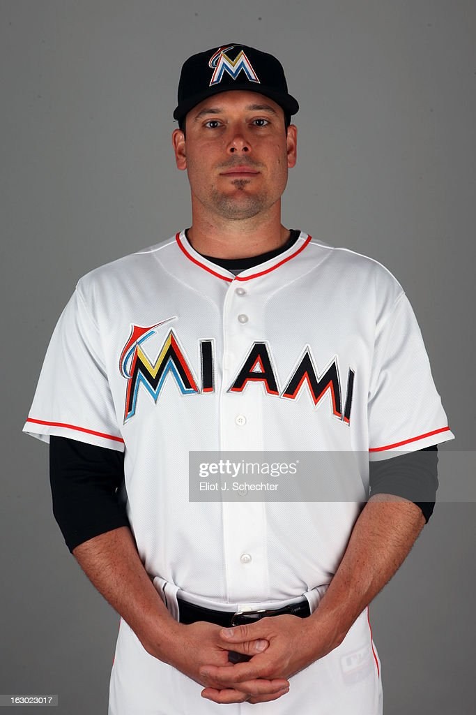 Greg Dobbs #29 of the Miami Marlins poses during Photo Day on Friday, February 22, 2013 at Roger Dean Stadium in Jupiter, Florida.