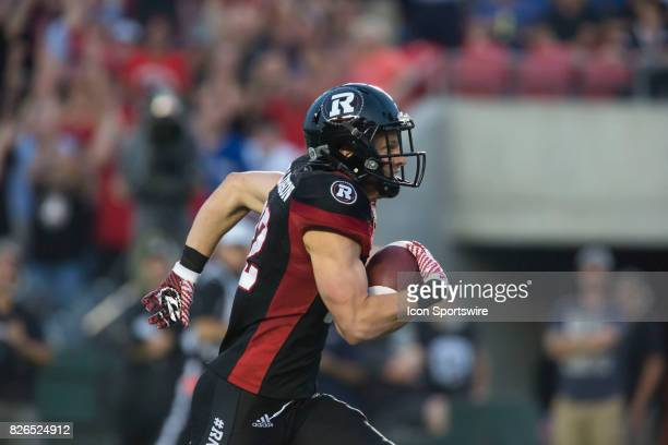 Greg Ellingson of the Ottawa Redblacks in Canadian Football League play on July 19 2017 at TD Place Stadium in Ottawa Canada The Ottawa Redblacks...