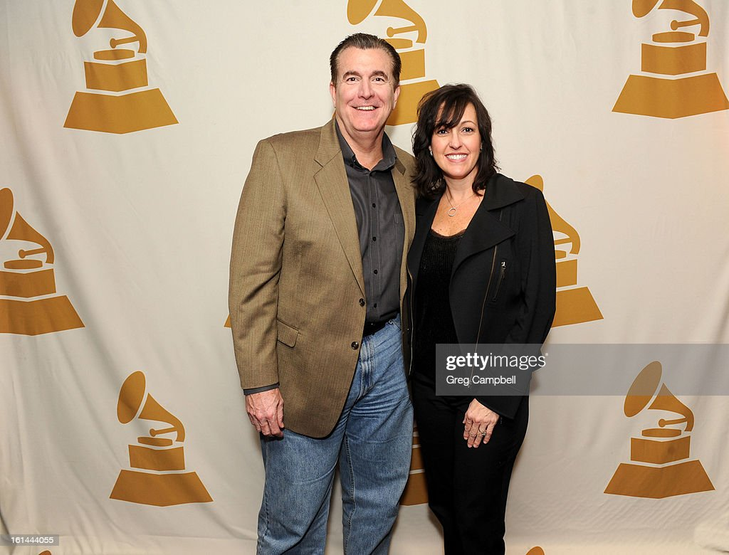 Greg Ericson and Michelle Ericson attend the 55th Annual GRAMMY Awards Telecast Party at Hard Rock Cafe on February 10, 2013 in Chicago, Illinois.
