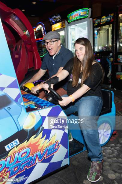 Greg Fitzsimmons and Caley Versfelt attend Bowling For Buddies at PINZ Bowling Entertainment Center on December 10 2017 in Studio City California