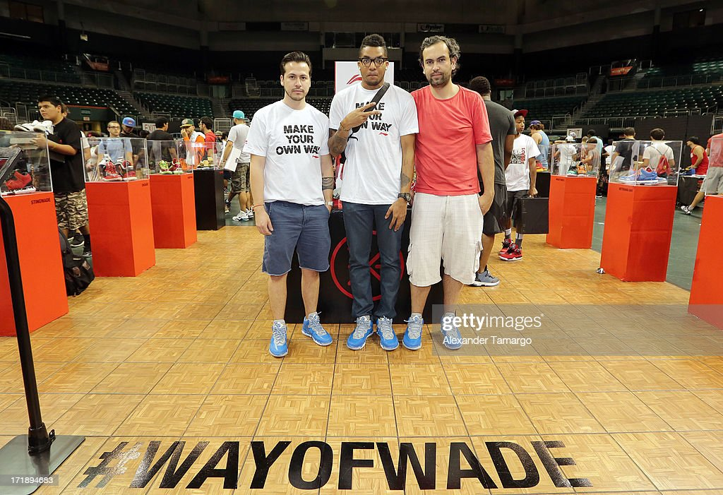 Greg Gayle, Jamie Dussan and Oswaldo Pescador of HelloNativo pose at SneakerCon Miami 2013 at Bank United Center on June 29, 2013 in Miami, Florida.