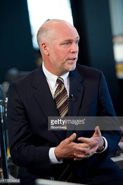 Greg Gianforte chairman and chief executive officer for RightNow Technologies Inc speaks during a Bloomberg via Getty Images West interview in San...
