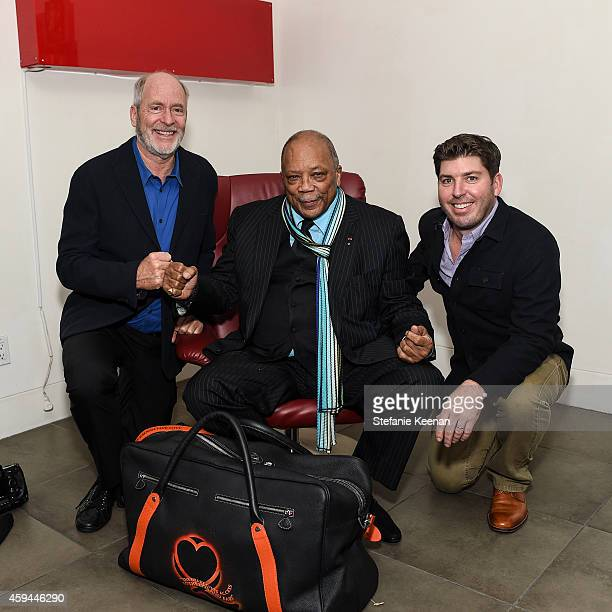 Greg Gorman and Quincy Jones attend Maybach Icons Of Luxury Quincy Jones Icon Collection on November 22 2014 in Los Angeles California