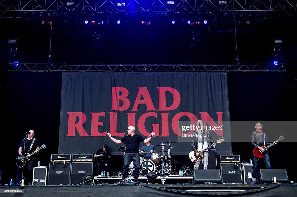 Greg Graffin of Bad Religion performs on stage at Download Festival at Donnington Park on June 13, 2014 in Donnington, United Kingdom.