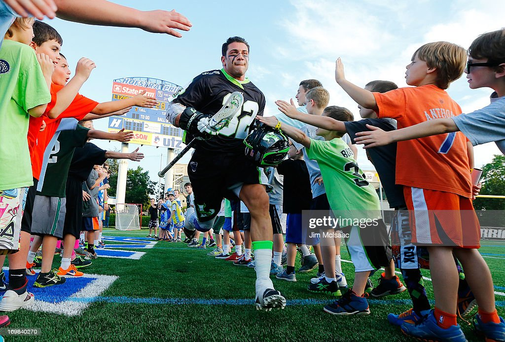 Greg Gurenlian #32 of the New York Lizards is introduced before a game against the Charlotte Hounds during their Major League Lacrosse game at Shuart Stadium on May 31, 2013 in Uniondale, New York.