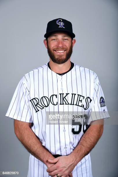 Greg Holland of the Colorado Rockies poses during Photo Day on Thursday February 23 2017 at Salt River Fields at Talking Stick in Scottsdale Arizona