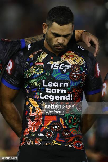 Greg Iglis of during the Indigenous All Stars looks on during the NRL All Stars match between the 2017 Harvey Norman All Stars and the NRL World All...