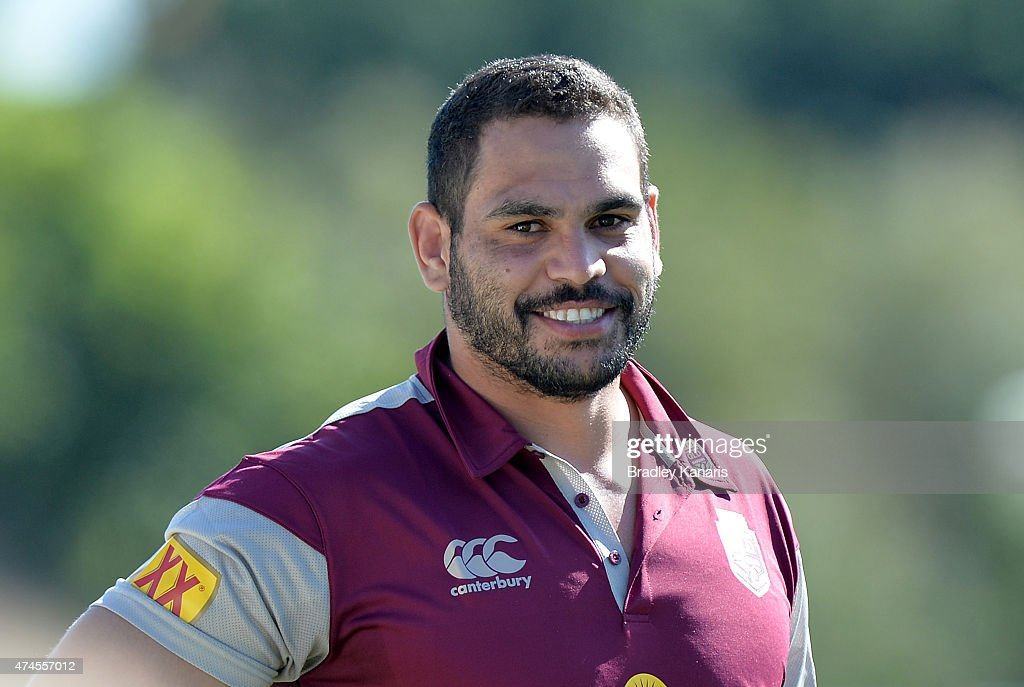 Greg Inglis is seen during the Queensland Maroons State of Origin training session at Sanctuary Cove on May 24 2015 in Brisbane Australia