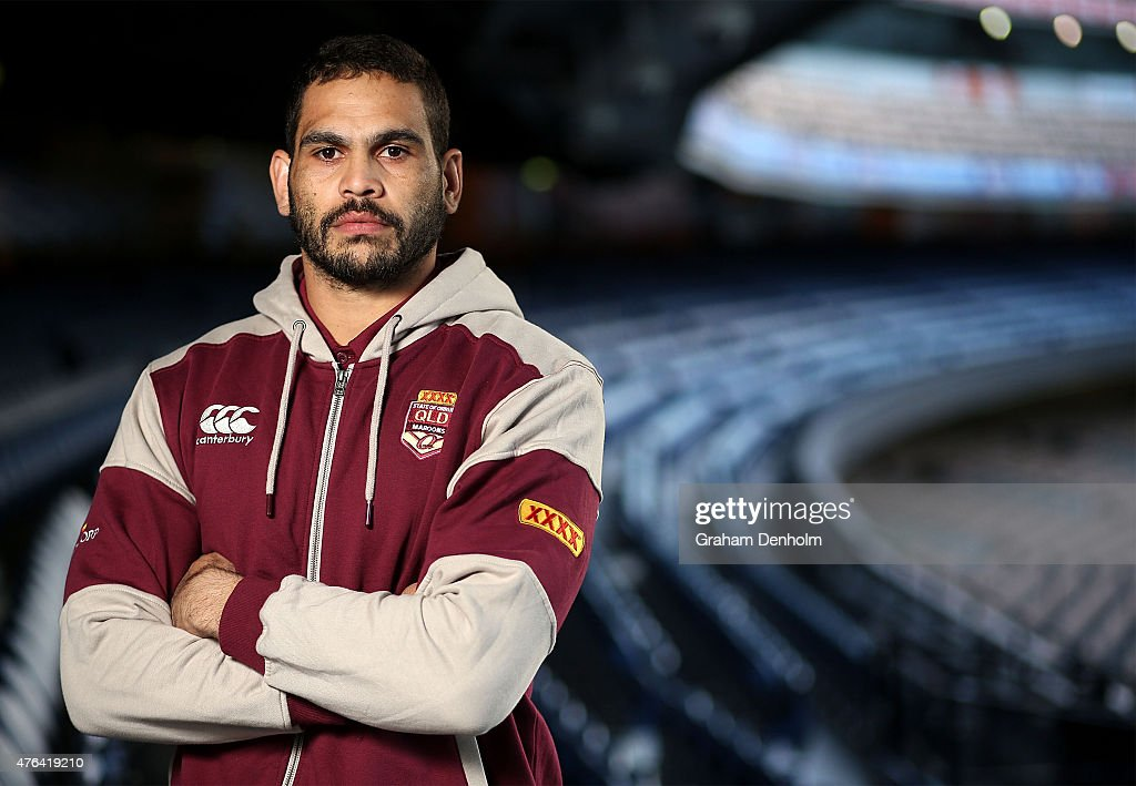 Greg Inglis poses during the Queensland Maroons State of Origin team announcement at Melbourne Cricket Ground on June 9, 2015 in Melbourne, Australia.