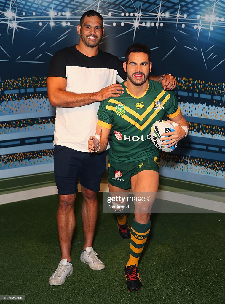 Greg Inglis Meets His Wax Model At Madame Tussauds