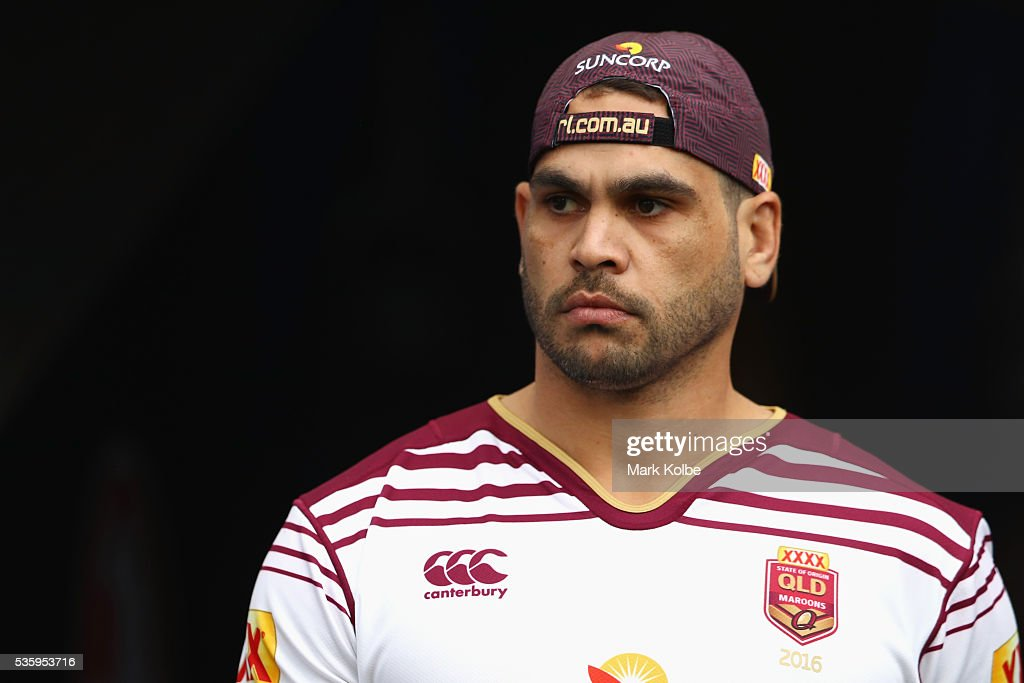 Greg Inglis walks out of the tunnel during a Queensland Maroons State Of Origin captain's run at ANZ Stadium on May 31, 2016 in Sydney, Australia.