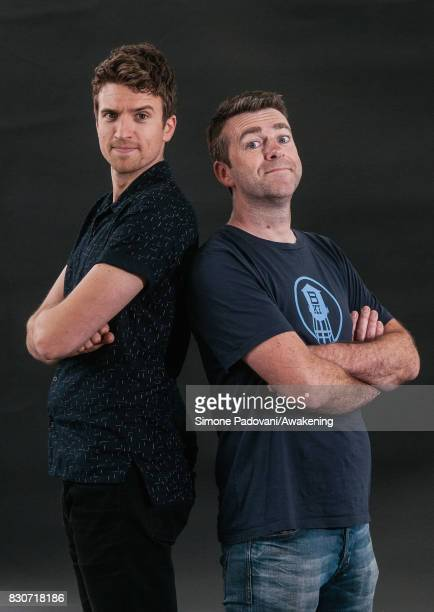 Greg James and Chris Smith attend the Edinburgh International Book Festival on August 12 2017 in Edinburgh Scotland The Edinburgh International Book...
