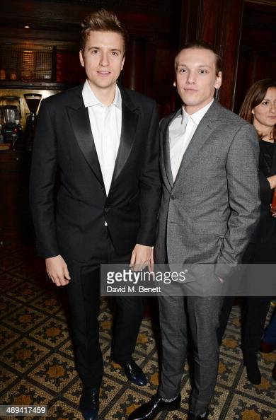 Greg James and Jamie Campbell Bower attend Harvey Weinstein's preBAFTA dinner in partnership with Burberry and Grey Goose at Little House Mayfair on...