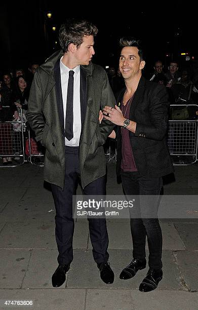 Greg James and Russell Kane are seen at the Cosmopolitan Ultimate Woman of the Year awards at Victoria Albert Museum on October 30 2012 in London...