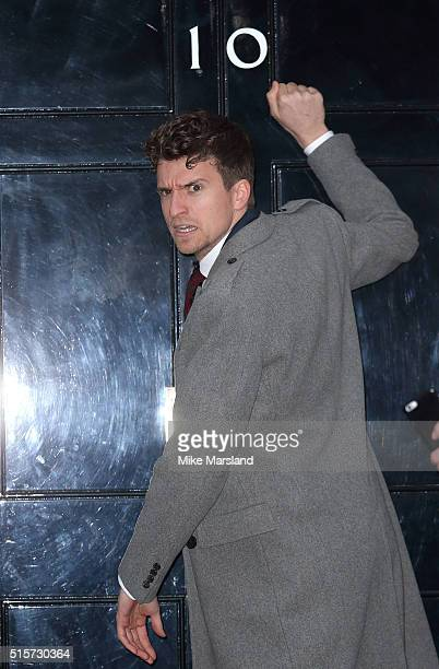 Greg James attends a reception for Sports Relief hosted by David Cameron at 10 Downing Street on March 15 2016 in London England