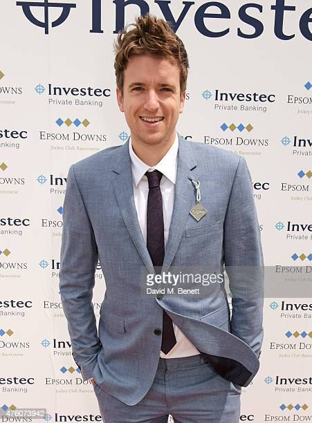 Greg James attends Derby Day during the Investec Derby Festival at Epsom Racecourse on June 6 2015 in Epsom England