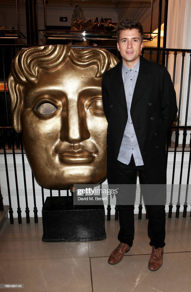 Greg James attends the BAFTA 'Breakthrough Brits' event at Burberry 121 Regent Street, London on October 21, 2013 in London, United Kingdom.