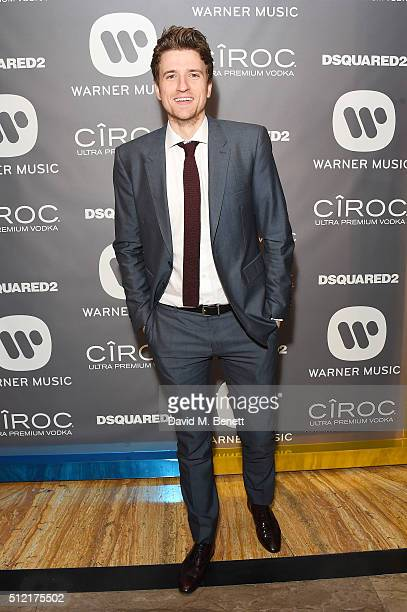 Greg James attends the Warner Music Group Ciroc Vodka Brit Awards after party at Freemasons Hall on February 24 2016 in London England