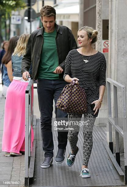 Greg James Fearne Cotton sighted leaving BBC radio one on August 8 2012 in London England