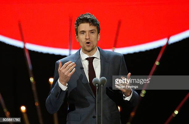 Greg James presents the Comedy award at the 21st National Television Awards at The O2 Arena on January 20 2016 in London England
