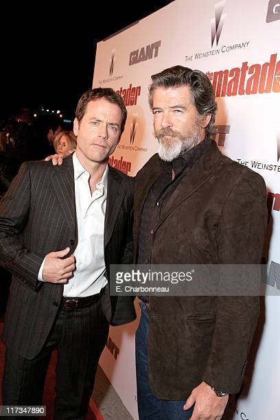 Greg Kinnear and Pierce Brosnan during The Weinstein Company's 'The Matador' Los Angeles Premiere at Westwood Crest Theatre/GM Penthouse in Los...