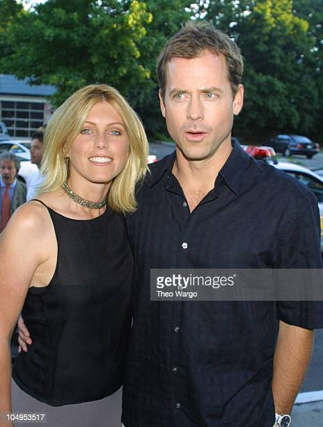 Greg Kinnear and wife Helen during Private screening of 'Dinner With Friends' at the UA Cinemas in Southampton New York in Southampton New York...