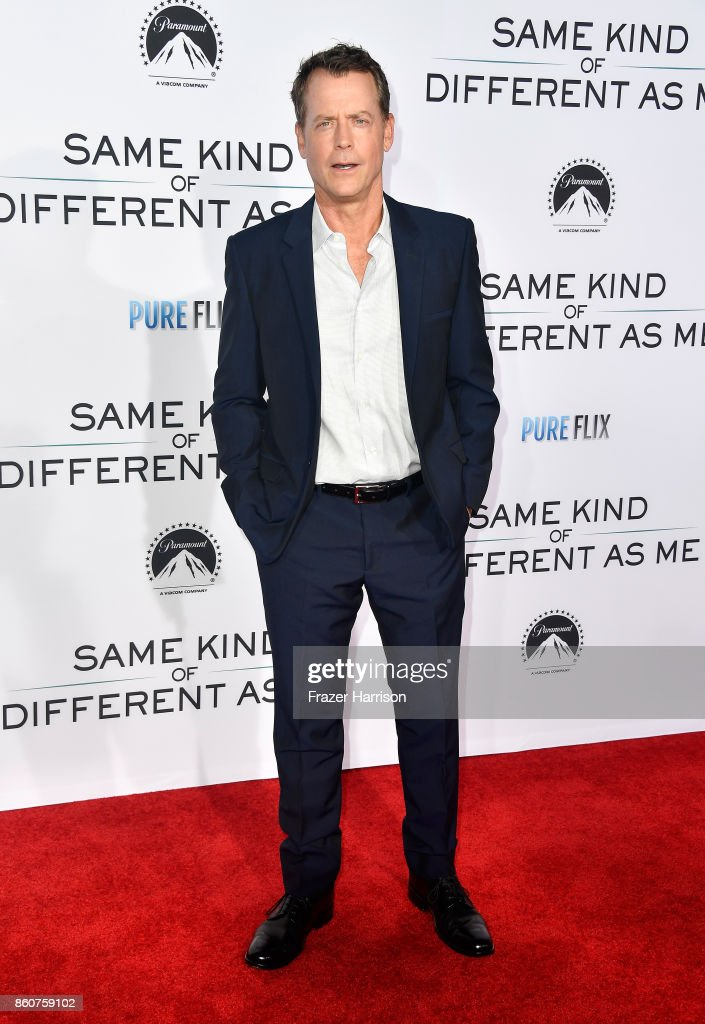 Greg Kinnear, arrives at the Premiere Of Paramount Pictures And Pure Flix Entertainment's 'Same Kind Of Different As Me' at Westwood Village Theatre on October 12, 2017 in Westwood, California.