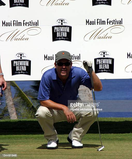 Greg Kinnear during 2003 Maui Film Festival Mr and Mrs T Golf Match at Waliea Golf Club in Maui Hawaii United States