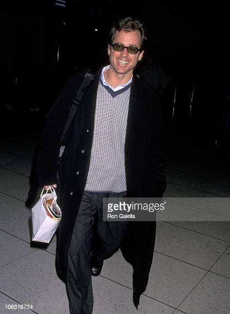 Greg Kinnear during Greg Kinnear Sighting at Los Angeles International Airport February 20 1998 at Los Angeles International Airport in Los Angeles...