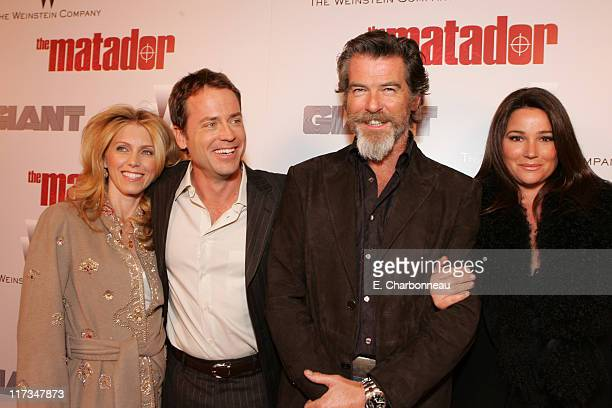 Greg Kinnear Helen Labdon Pierce Brosnan and Keely Shaye Smith