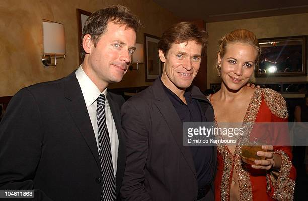 Greg Kinnear Willem Dafoe and Maria Bello during 40th New York Film Festival Screening of 'Auto Focus' AfterParty at Gabriel's Restaurant in New York...
