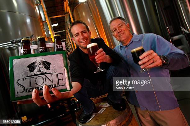 Greg Koch CEO is loud and vivacious and Steve Wagner President/Brewmaster is mor quiet and reserved together the two have teamed to make the Stone...