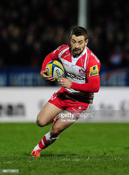 Greg Laidlaw of Gloucester in action during the Aviva Premiership match between Gloucester Rugby and Bath Rugby at Kingsholm Stadium on December 20...