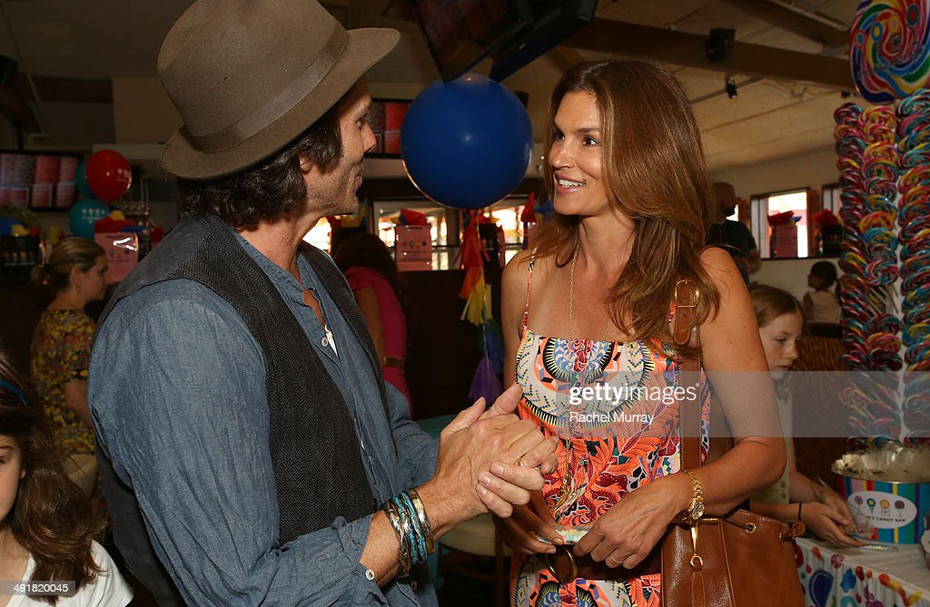 Greg Lauren and Cindy Crawford attend Dylan's Candy Bar Candy Girl Collection LA Launch Event at Dylan's Candy Bar on May 17, 2014 in Los Angeles, California.