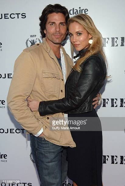 Greg Lauren and Elizabeth Berkley during Marie Claire and Lauren Bush Host and Evening of Photography at 401 Projects in New York City New York...