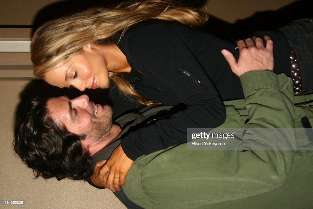 Greg Lauren and Elizabeth Berkley during The Opening Night Celebration for The Cartells at Comix in New York City New York United States