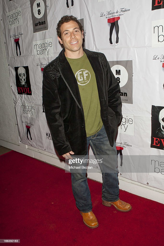 Greg Lindsay attends Celebrity Fashion Designer Maggie Barry Street Launch Party For 'M8' at La Maison de Fashion on May 8, 2013 in Hollywood, California.