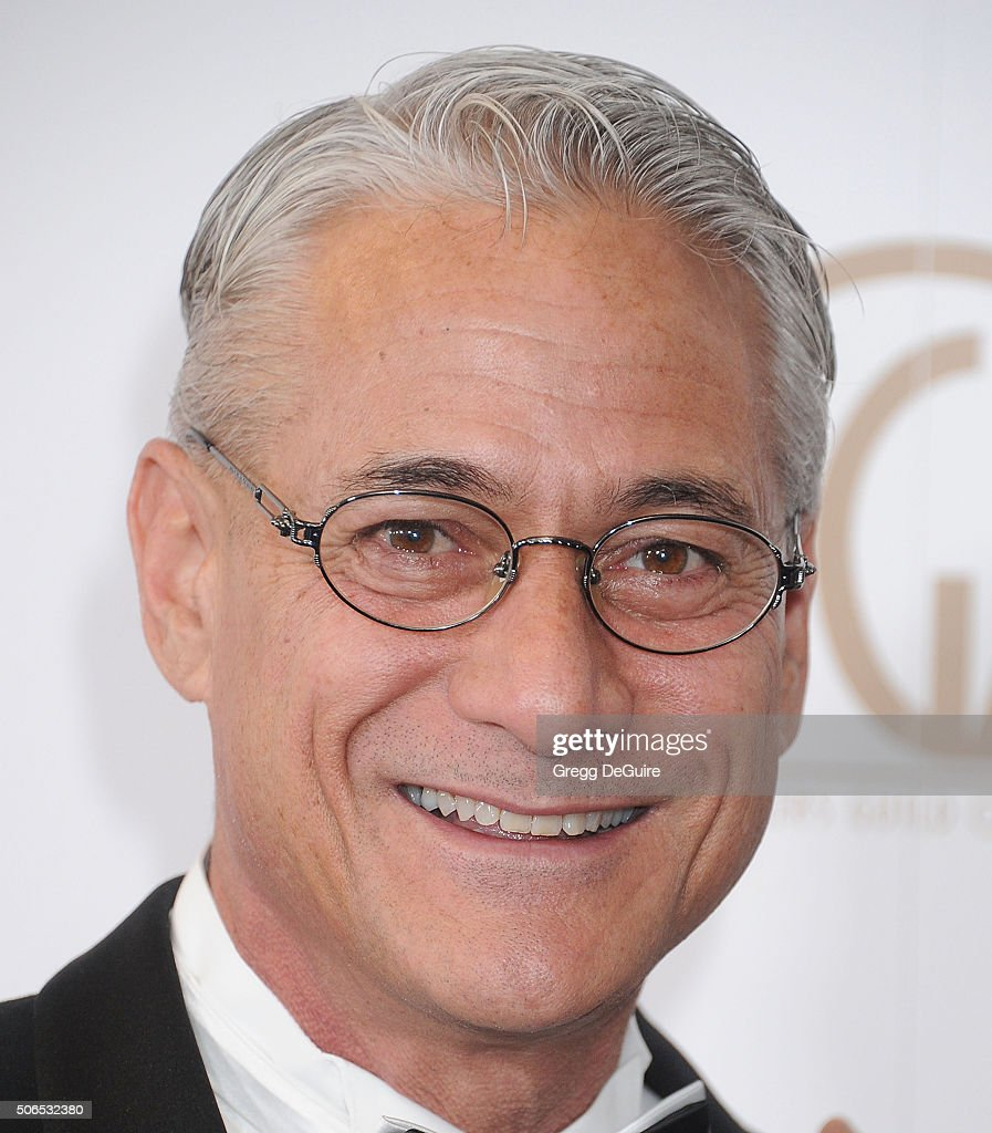Greg Louganis arrives at the 27th Annual Producers Guild Awards at the Hyatt Regency Century Plaza on January 23, 2016 in Century City, California.