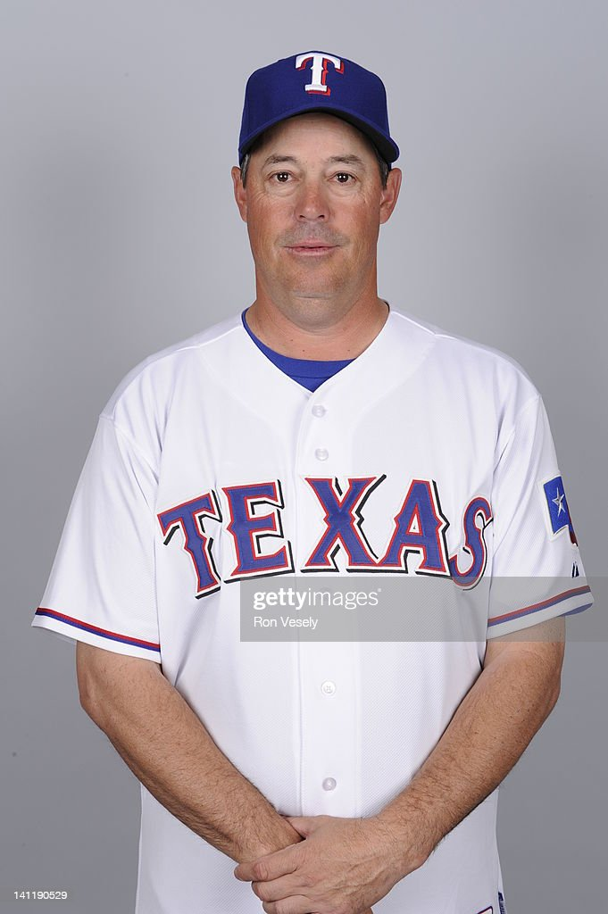 <a gi-track='captionPersonalityLinkClicked' href=/galleries/search?phrase=Greg+Maddux&family=editorial&specificpeople=202173 ng-click='$event.stopPropagation()'>Greg Maddux</a> of the Texas Rangers poses during Photo Day on Tuesday, February 28, 2012 at Surprise Stadium in Surprise, Arizona.
