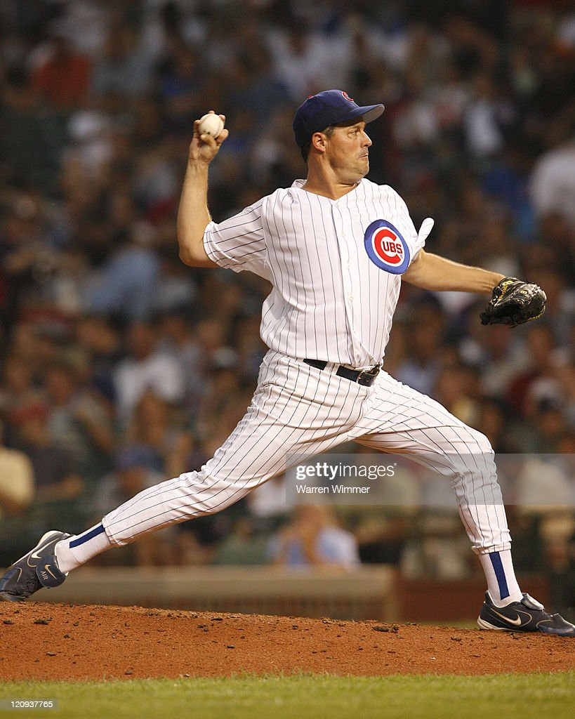 <a gi-track='captionPersonalityLinkClicked' href=/galleries/search?phrase=Greg+Maddux&family=editorial&specificpeople=202173 ng-click='$event.stopPropagation()'>Greg Maddux</a> pitcher of the Chicago Cubs on the mound during game action at Wrigley Field, Chicago, Illinois, USA. July 19, 2006, the Houston Astros over the Chicago Cubs by a score of 4 to 2 in nine innings. The 43 year old Roger ' The Rocket' Clemens over the 40 year old <a gi-track='captionPersonalityLinkClicked' href=/galleries/search?phrase=Greg+Maddux&family=editorial&specificpeople=202173 ng-click='$event.stopPropagation()'>Greg Maddux</a>.