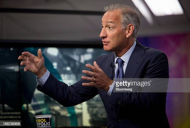 Greg Maffei president and chief executive officer of Liberty Media Corp speaks during an interview in New York US on Wednesday May 22 2013 Maffei...