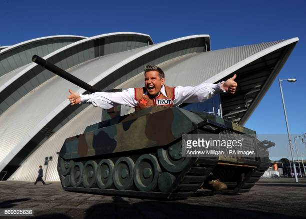 Tank Commander in his tank at the press launch for this years pantomime Jack and the Beanstalk at the SEC Armadillo in Glasgow