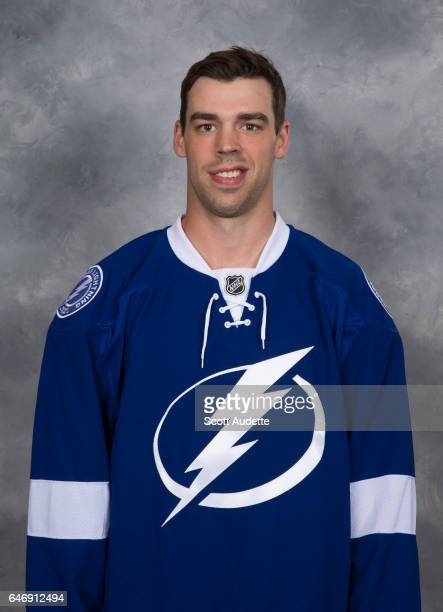 Greg McKegg of the Tampa Bay Lightning poses for his official headshot at Amalie Arena on March 1 2017 in Tampa Florida