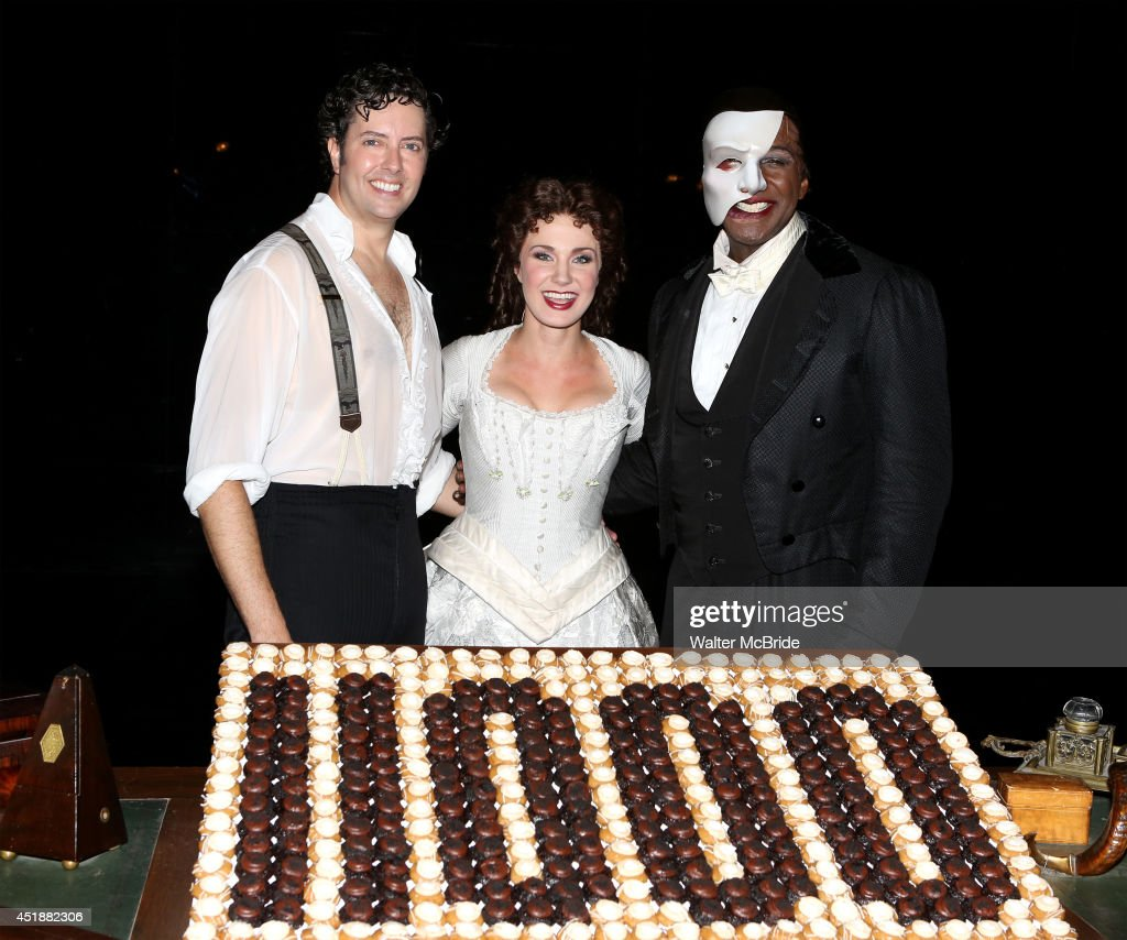 Greg mills norm lewis and sierra boggess backstage at the phantom of the opera