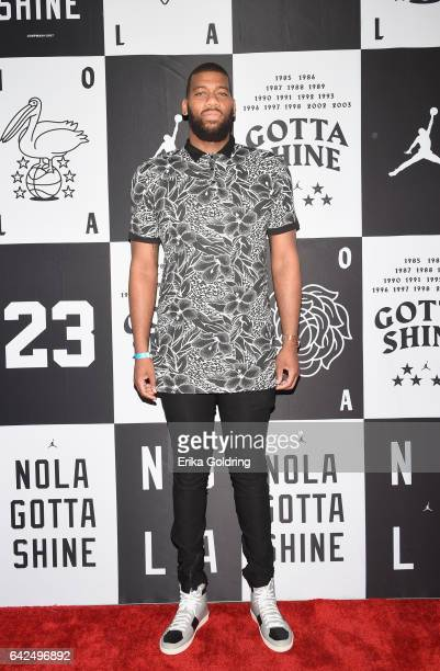 Greg Monroe of Milwaukee Bucks attends Jordan Brand 2017 AllStar Party at Seven Three Distilling Co on February 17 2017 in New Orleans Louisiana