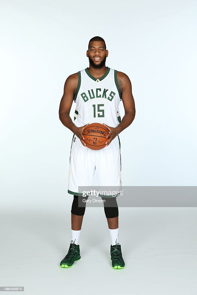 <a gi-track='captionPersonalityLinkClicked' href=/galleries/search?phrase=Greg+Monroe&family=editorial&specificpeople=5042440 ng-click='$event.stopPropagation()'>Greg Monroe</a> #15 of the Milwaukee Bucks poses for a portrait during Media Day on September 28, 2015 at the Orthopaedic Hospital of Wisconsin Training Center in St Francis, Wisconsin.